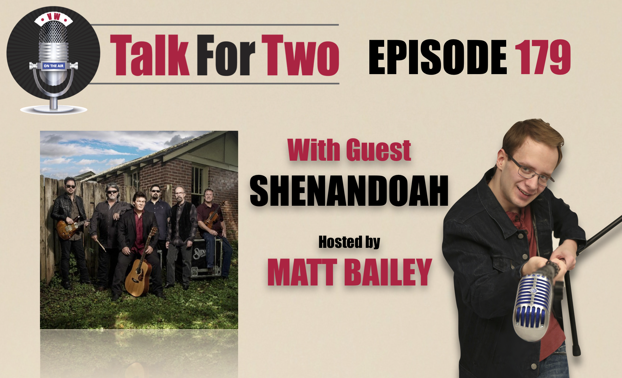 Shenandoah, Marty Raybon, Mike McGuire, Matt Bailey, Talk For Two talk show